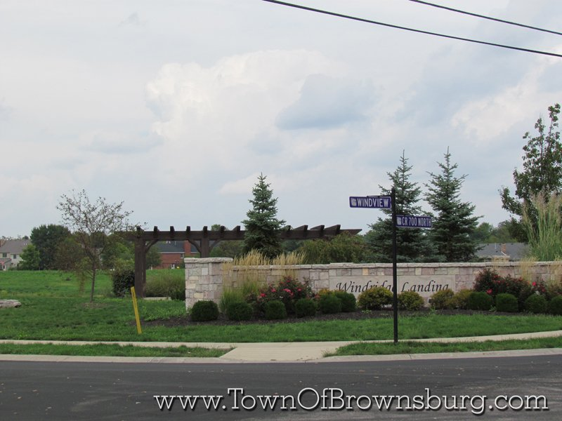 WindRidge Landing, Brownsburg, IN: Roadway Entrance