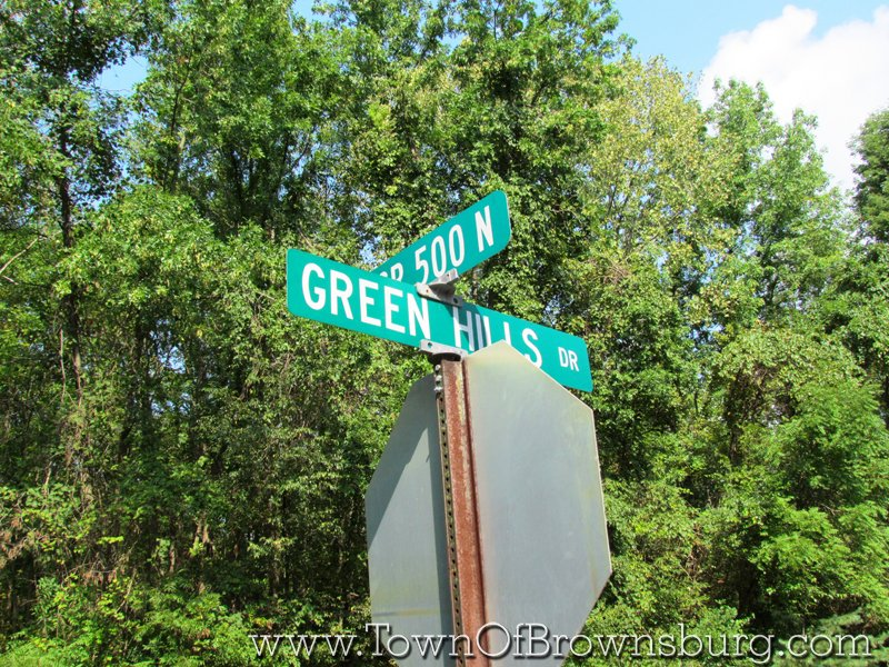 Green Hills, Brownsburg, IN: Intersection