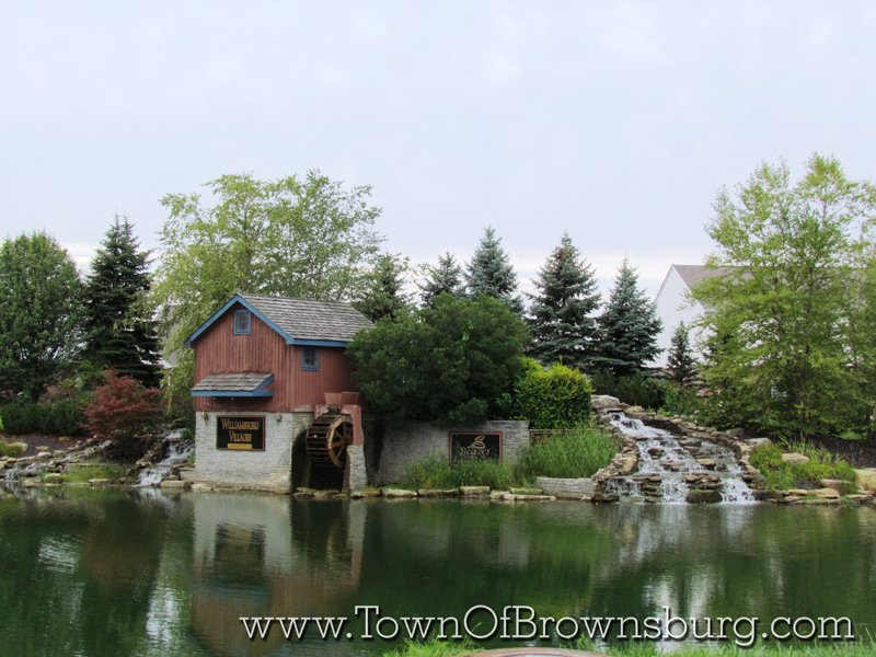 Williamsburg, Brownsburg, IN: Water Mill and Pond Area