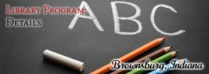 Brownsburg Library Programs for Infants, Toddlers, and Preschoolers