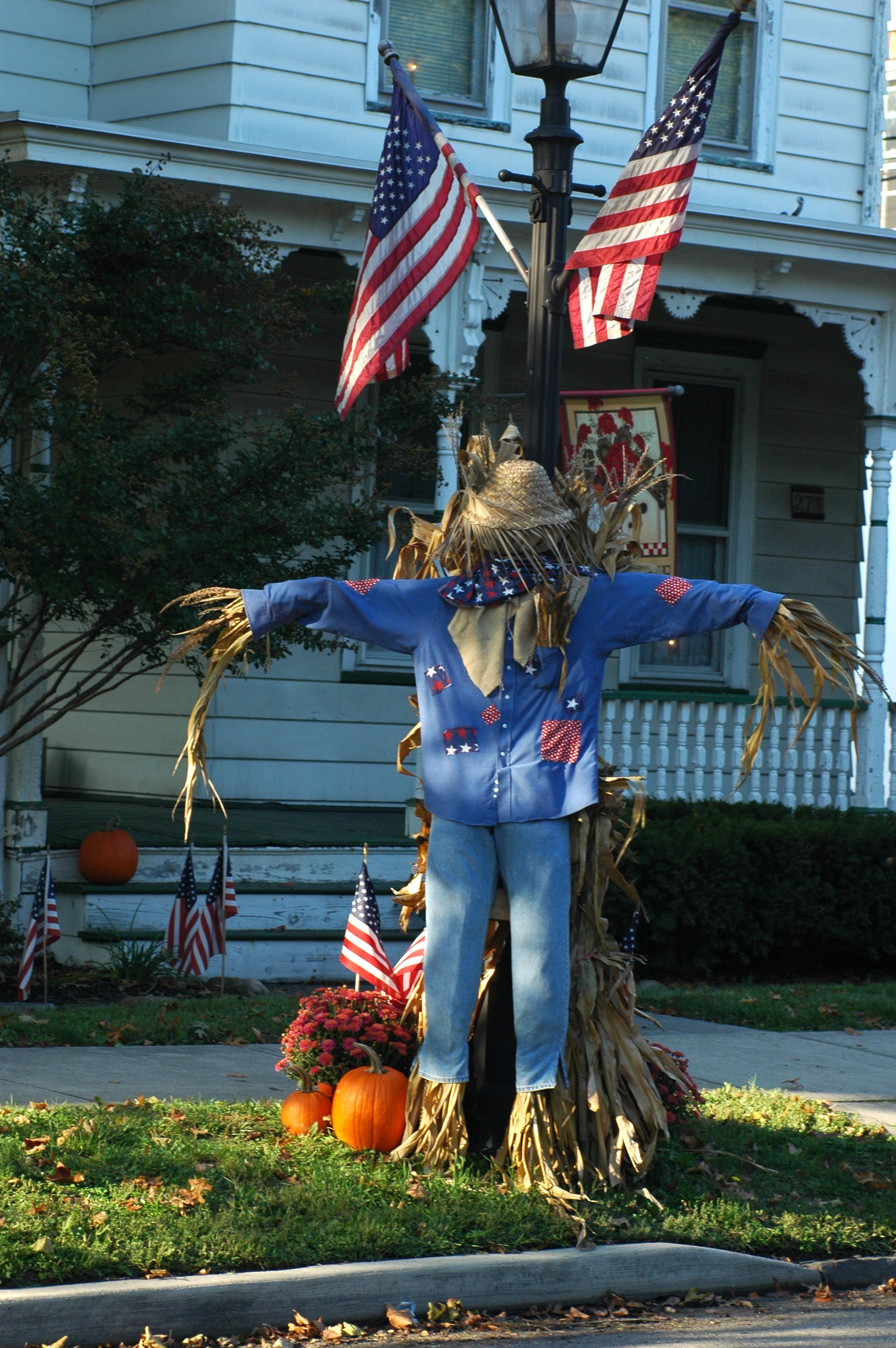 Danville Scarecrow Display Town Of Brownsburg