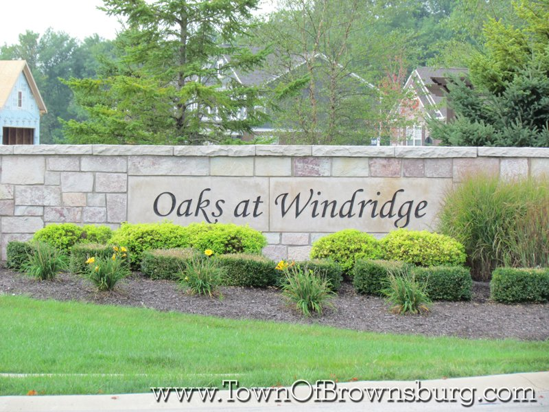 Oaks at WindRidge, Brownsburg, IN: Entrance