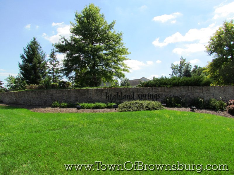 Highland Springs, Brownsburg, IN: Entrance