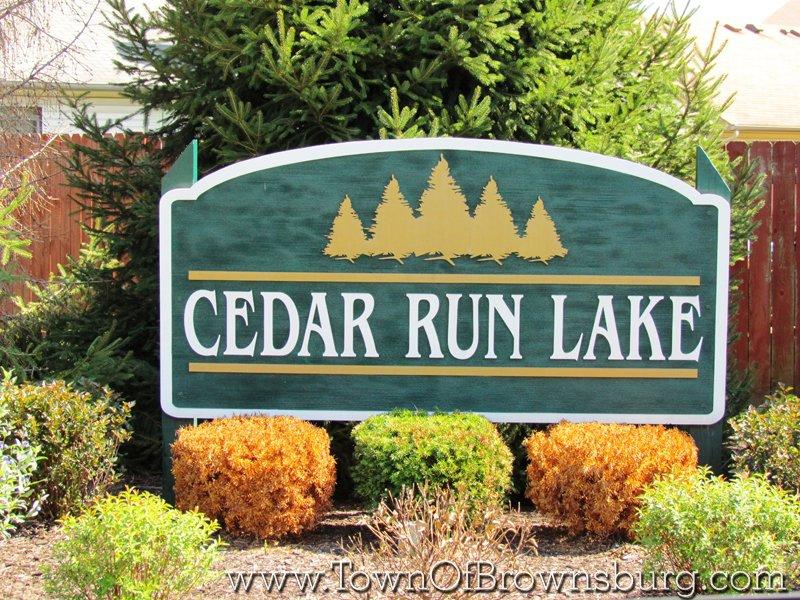 Cedar Run Lake, Brownsburg, IN: Entrance