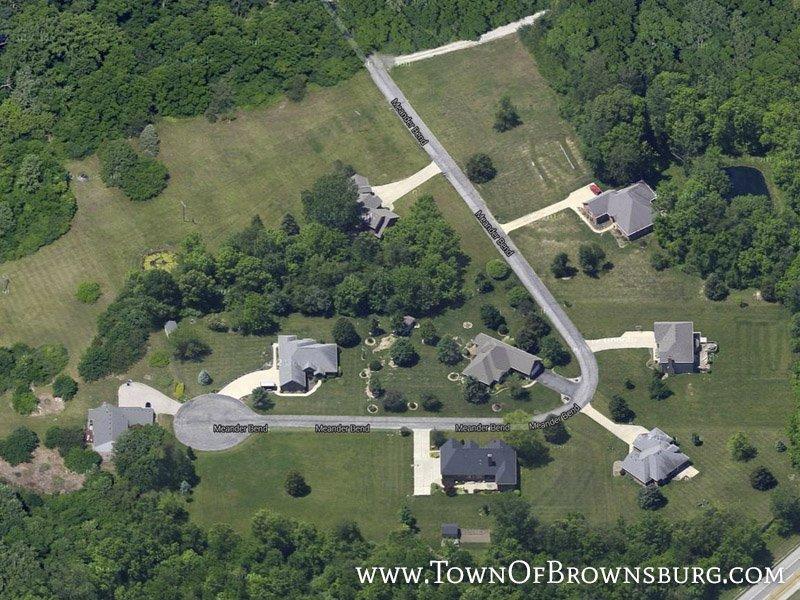Aerial Photo – Meander Bend – Brownsburg, IN
