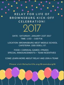 Relay for Life of Brownsburg Kick-Off Celebration